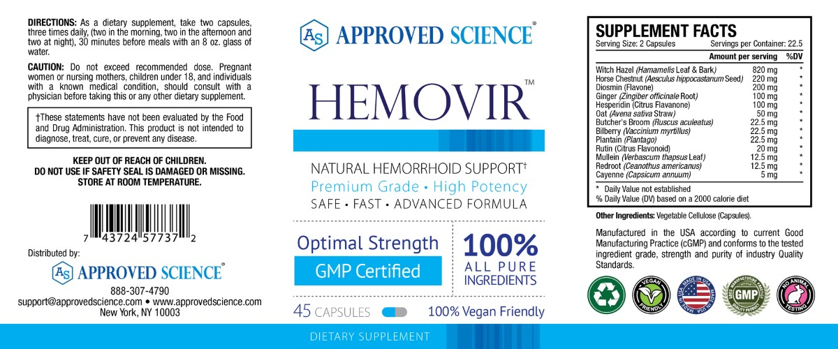 Hemovir Supplement Facts